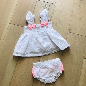 Crown and Ivy baby girl matching set 9 months